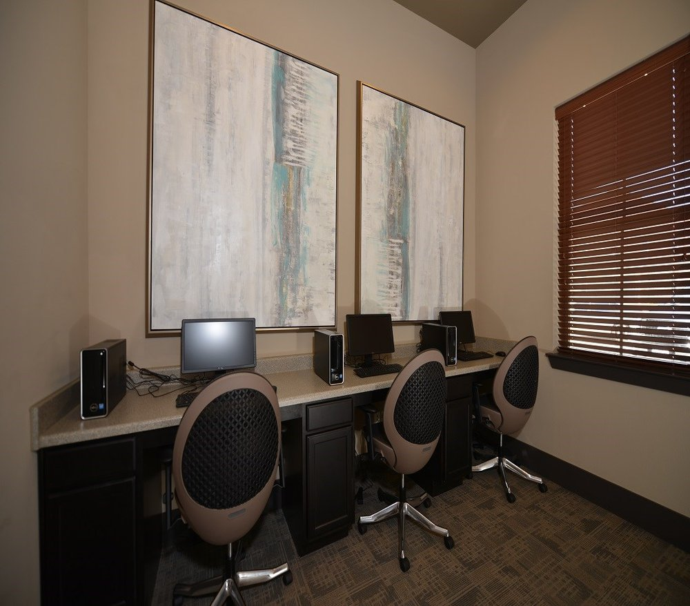 Business Center at The Lakeshore Apartment Homes in Lake Dallas, TX