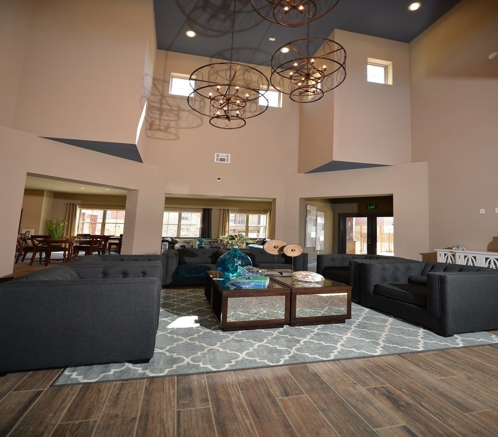 Contemporary Clubhouse at The Lakeshore Apartment Homes in Lake Dallas, TX