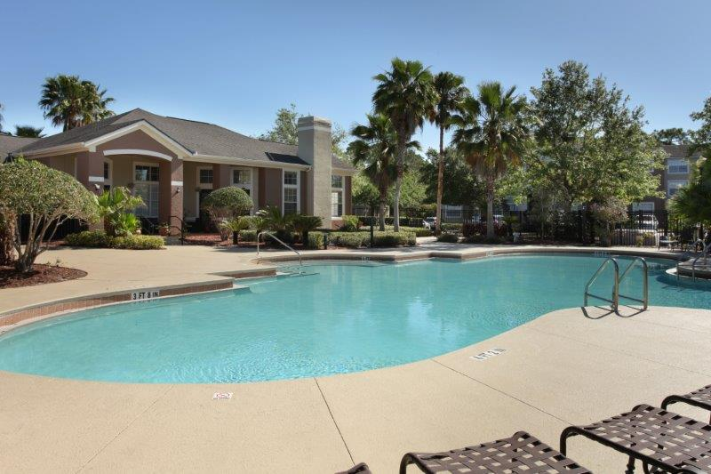 Sparkling Swimming Pool at Lakes at North Port Apartments in North Port, Florida