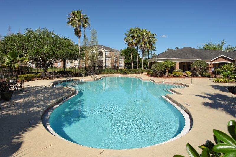 Gated Pool Area at Lakes at North Port Apartments in North Port, Florida