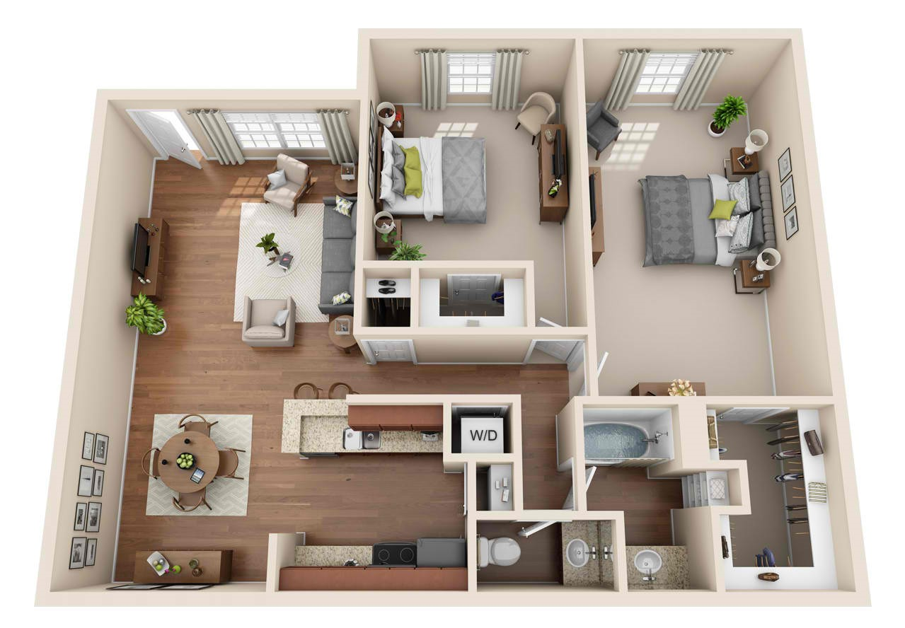 Grove at Seabrook - Floorplan - 2BR