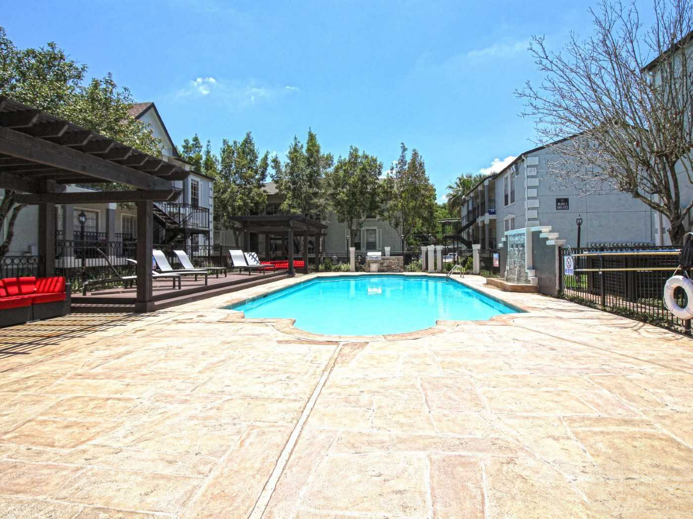 Resort-Style Swimming Pool at Grove at Seabrook Apartments in Seabrook, Texas
