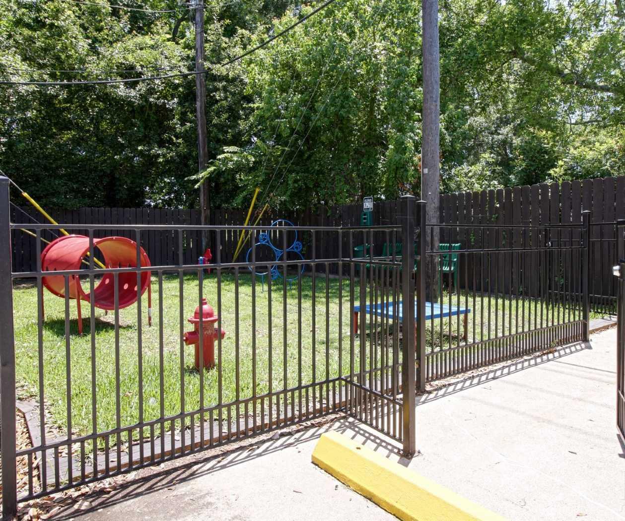 Dog Park at La Maison at Lake Cove Apartments in Seabrook, Texas