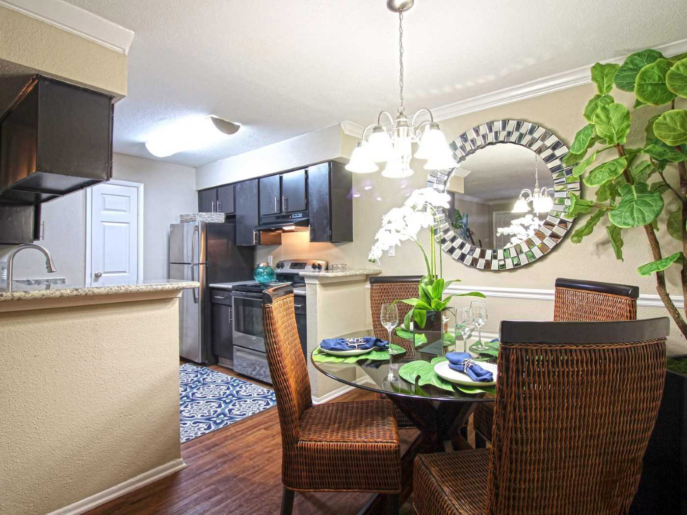 Well Equipped Kitchen at Grove at Seabrook Apartments in Seabrook, Texas