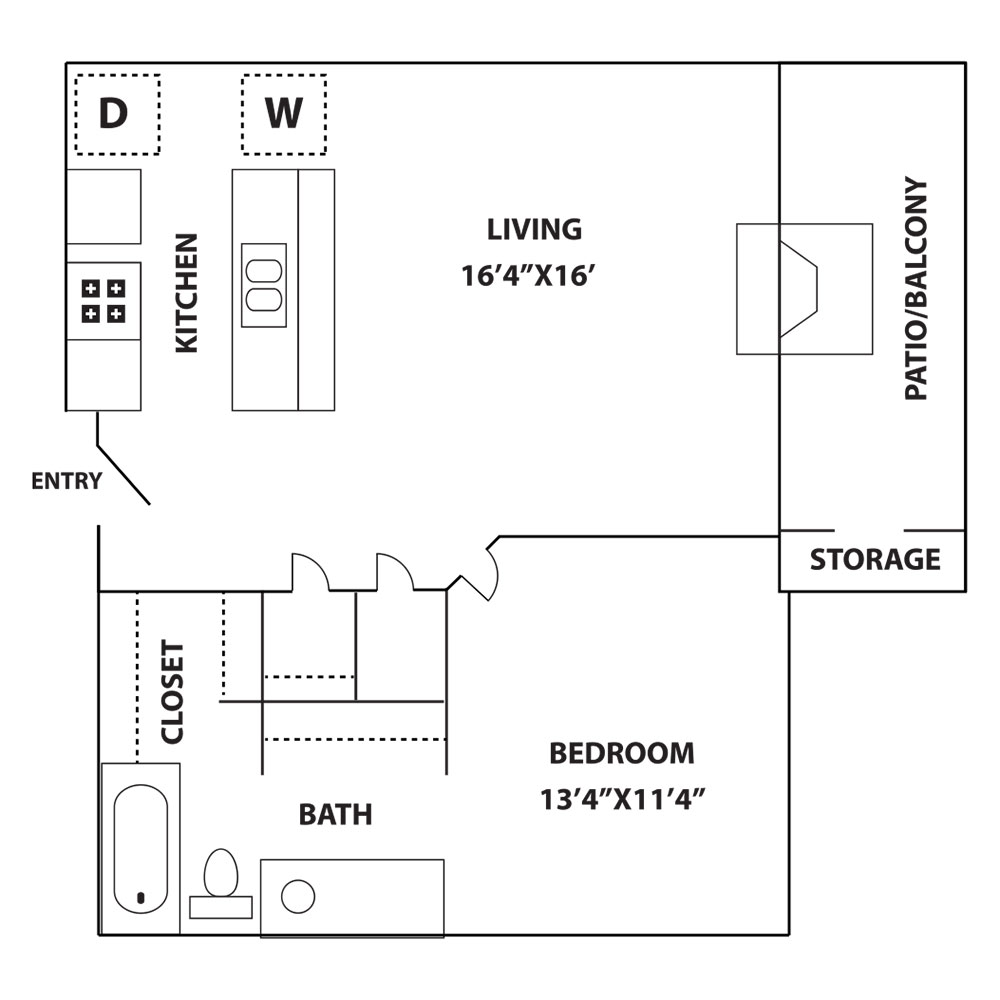 Las Brisas Apartments - Floorplan - Typhoon