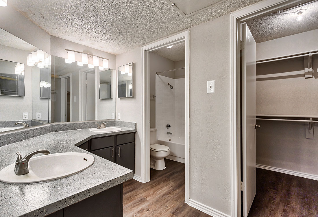 Bathroom at Las Brisas Apartments in San Antonio, TX