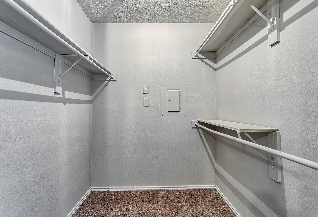 Large Walk-In Closets at Las Brisas Apartments in San Antonio, TX
