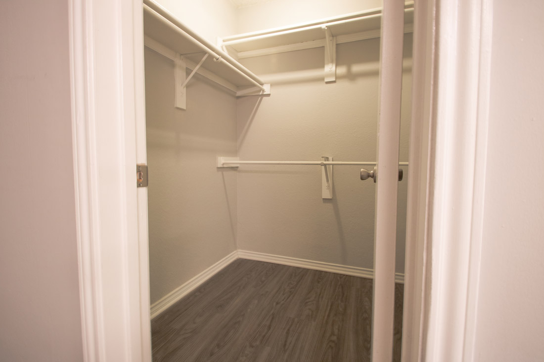 Walk-In Closet at Las Brisas Apartments in San Antonio, TX