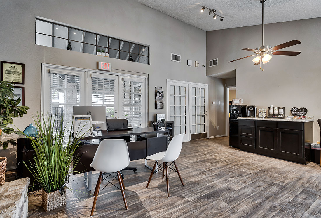 Leasing Center at Las Brisas Apartments in North Central San Antonio, TX