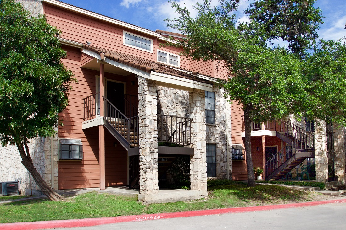 Stylish, Bright Apartment Exteriors at Las Brisas Apartments in San Antonio, TX