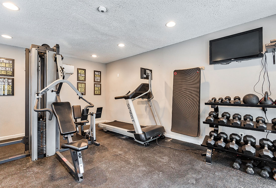 Fully-Equipped Fitness Center at Las Brisas Apartments in San Antonio, TX