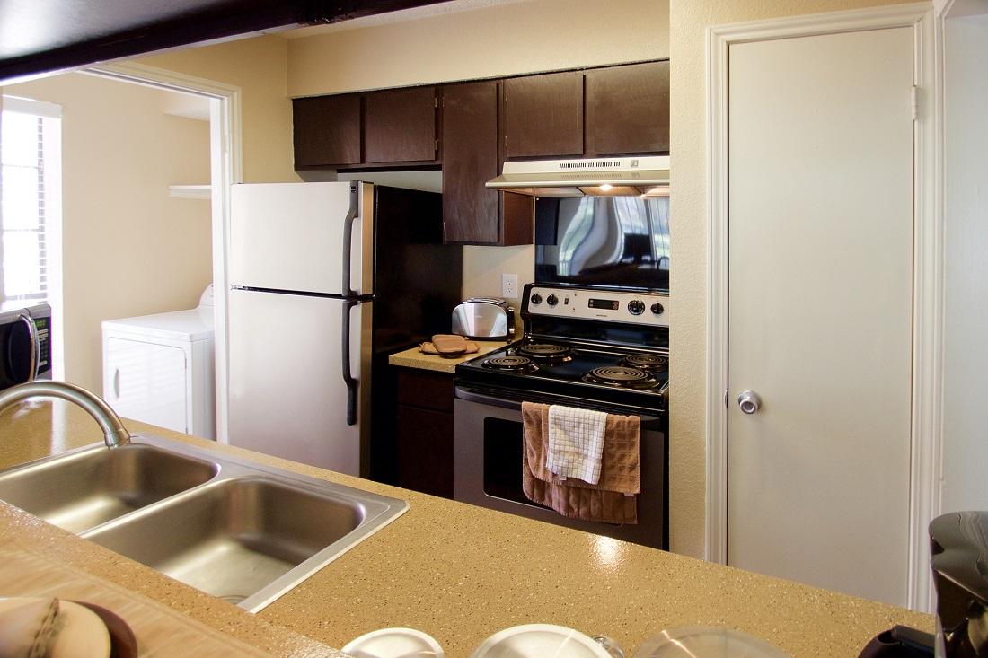 Ample Kitchen Counterspace at Las Brisas Apartments in San Antonio, TX