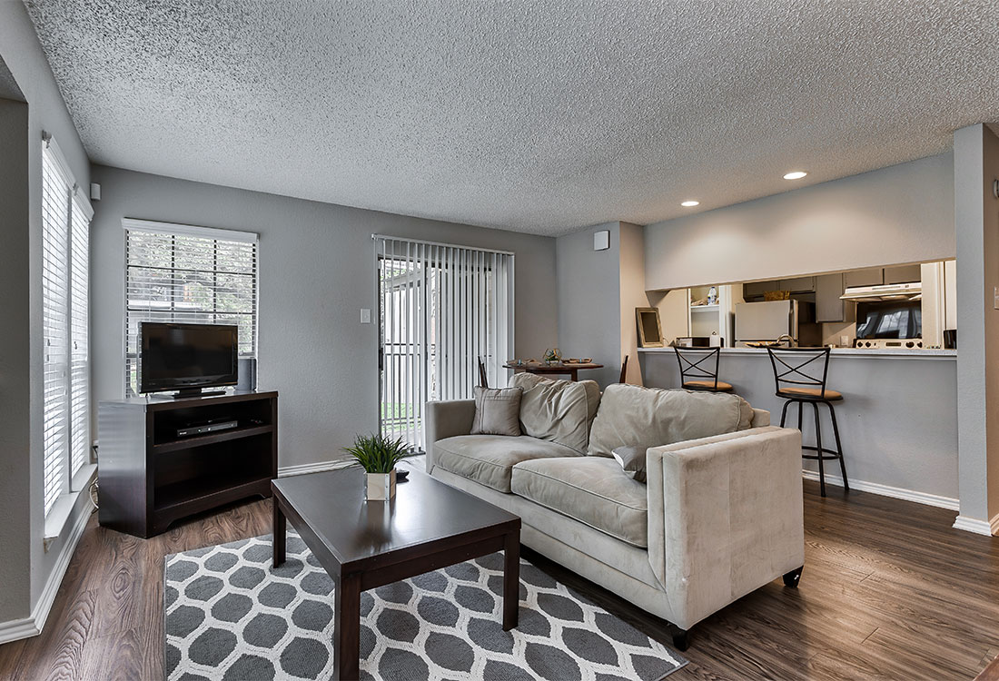 Spacious Living Room at Las Brisas Apartments in San Antonio, TX
