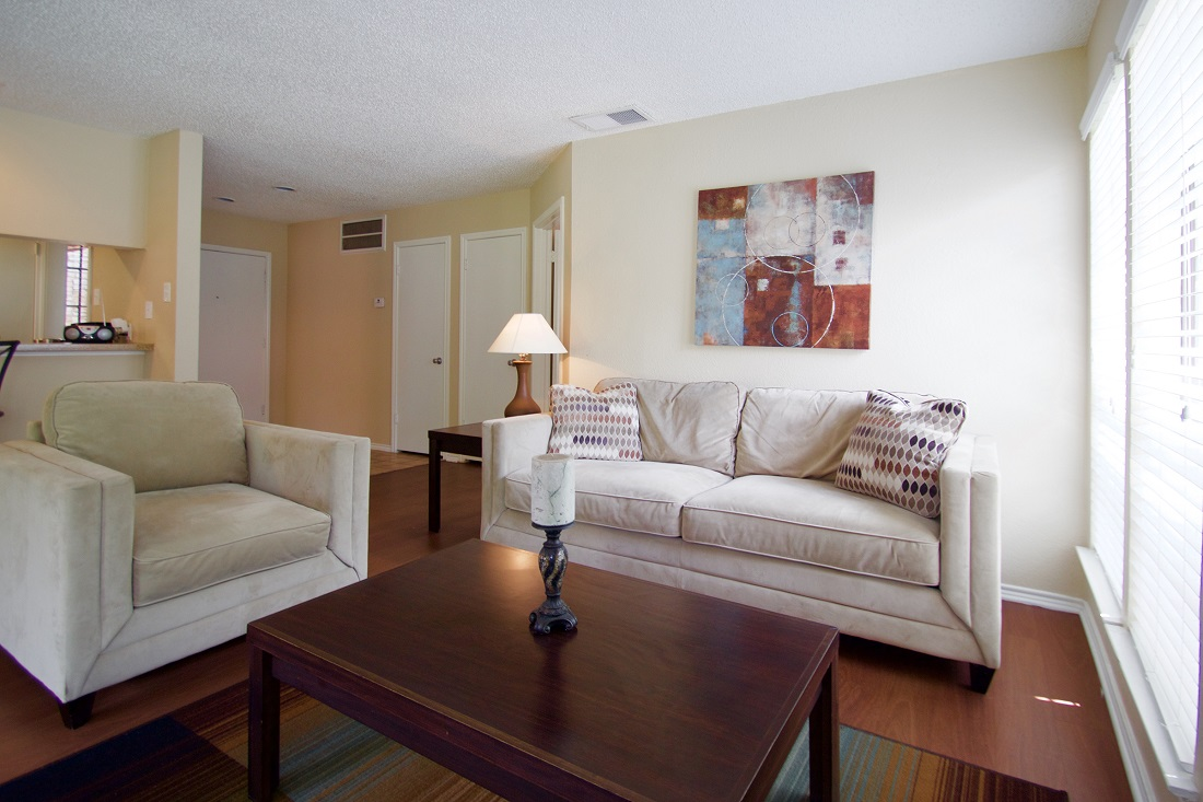 Spacious Living Room at Las Brisas Apartments in San Antonio, TX