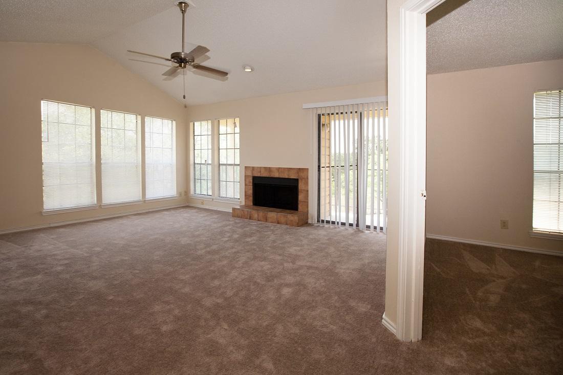 Spacious Living Area at Las Brisas Apartments in San Antonio, TX