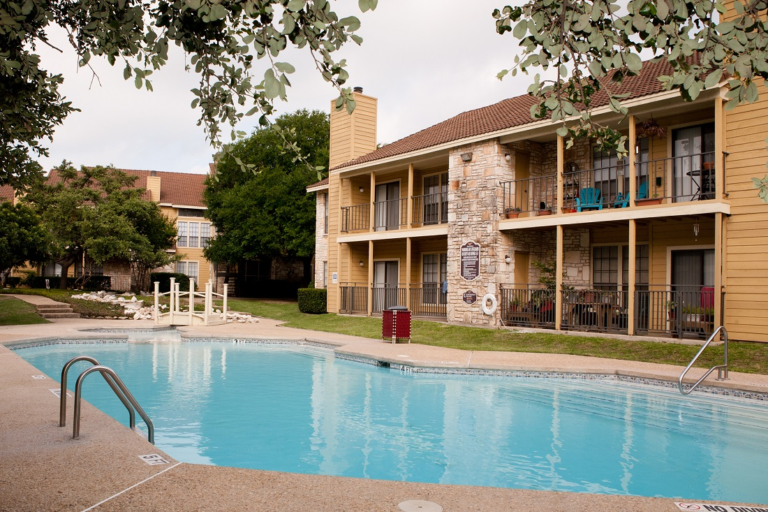Outdoor Swimming Pool at Las Brisas Apartments in San Antonio, TX