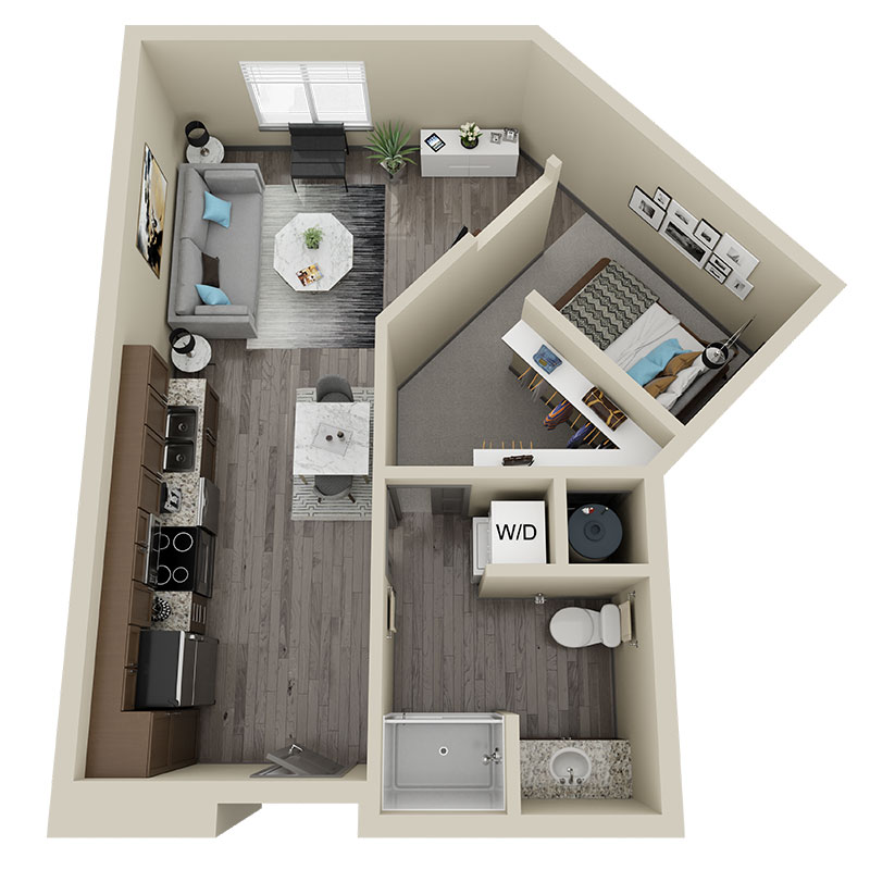 Legacy 23 - Floorplan - Studio - A2