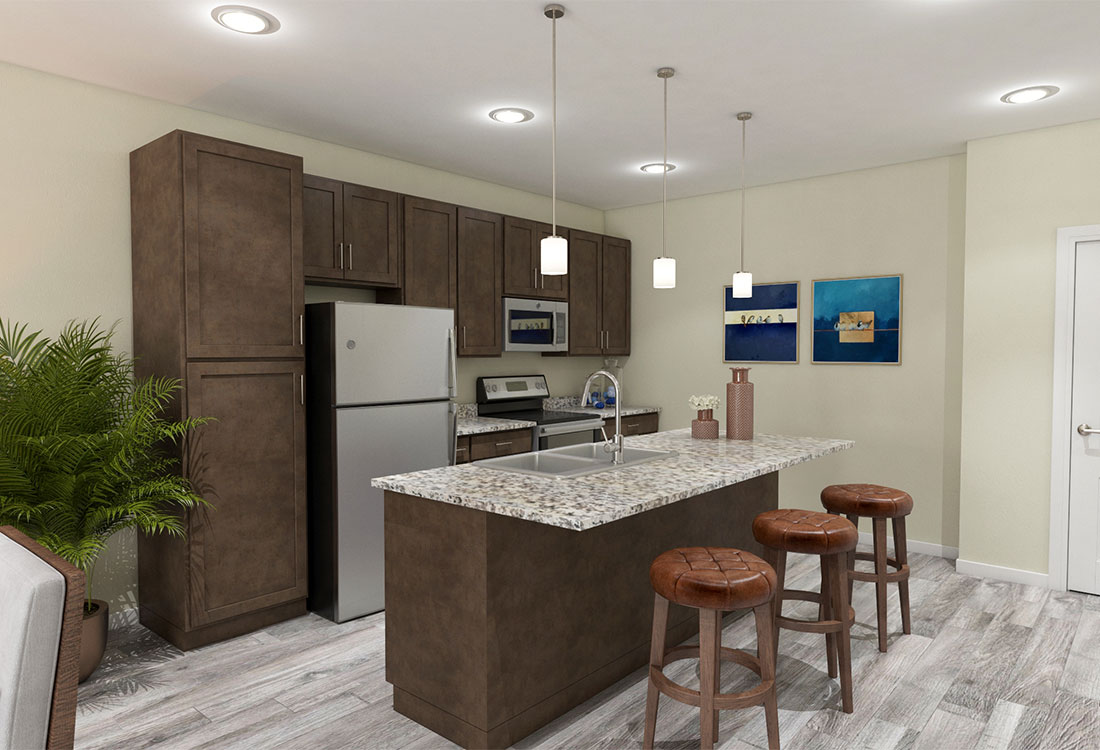 Stainless Steel Kitchens at Legacy 23 Apartments in Columbus, Nebraska