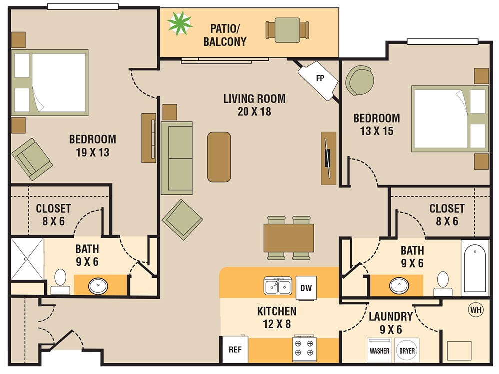 Legacy Flats - Floorplan - 2 Bedroom B