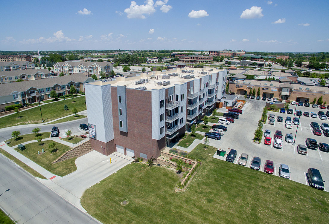 Aerial View of Legacy Flats Apartments in Omaha, Nebraska