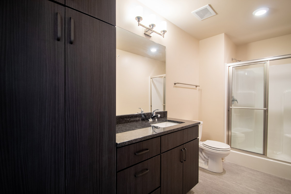 Spacious Bathrooms at Legacy Flats Apartments in Omaha, NE