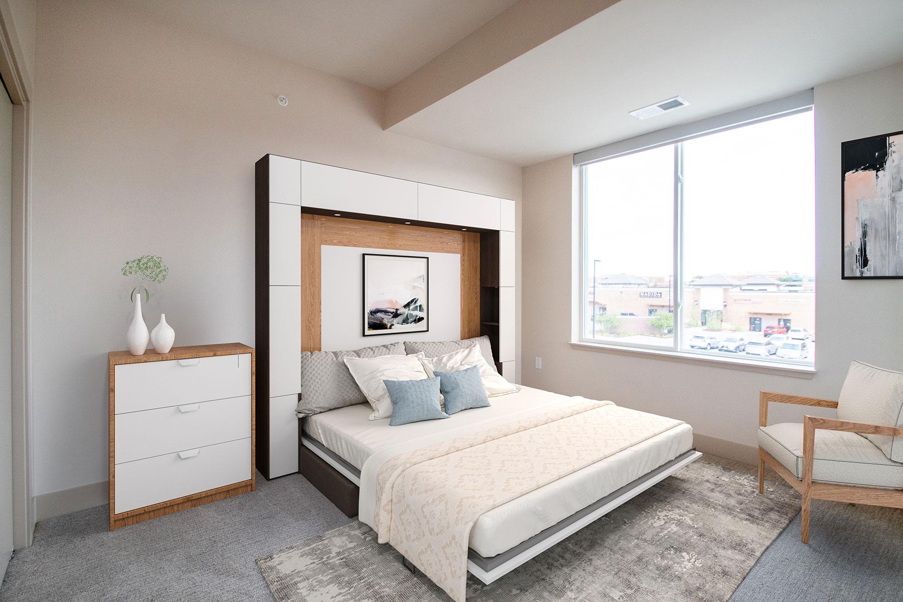 Spacious Bedrooms at Legacy Flats Apartments in Omaha, Nebraska