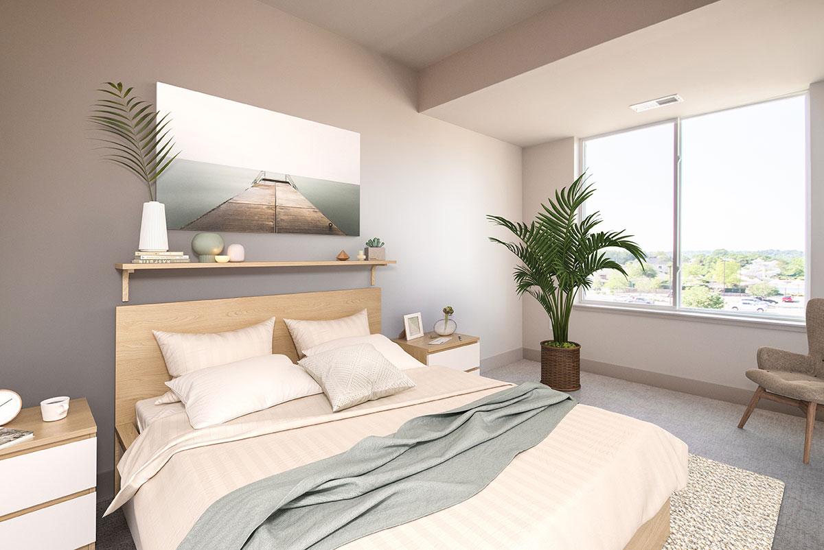 Spacious Bedrooms at Legacy Flats Apartments in Omaha, NE
