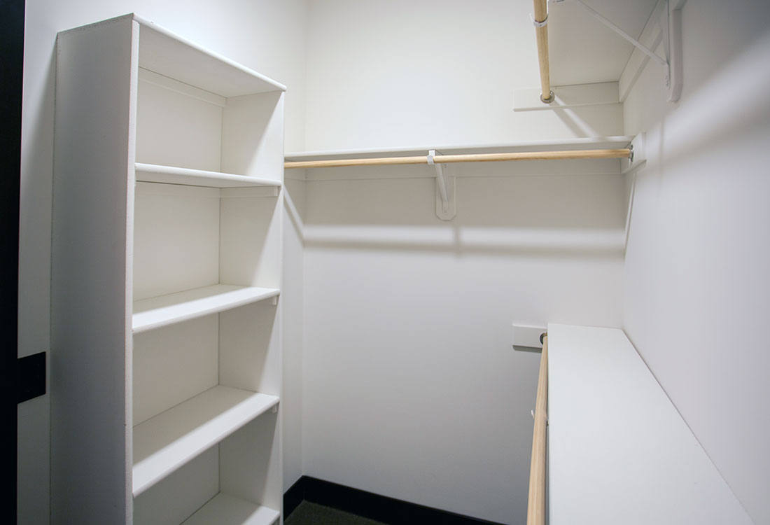 Walk-In Closet at Legacy Flats Apartments in Omaha, Nebraska