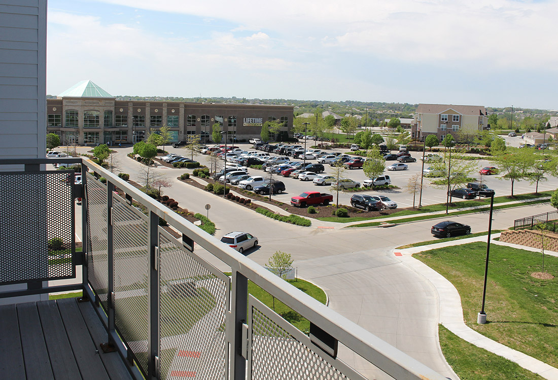 Private Balcony at Legacy Flats Apartments in Omaha, Nebraska