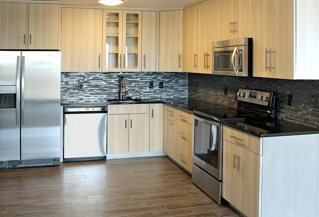 Stylish Backsplash at Legacy Flats Apartments in Omaha, Nebraska