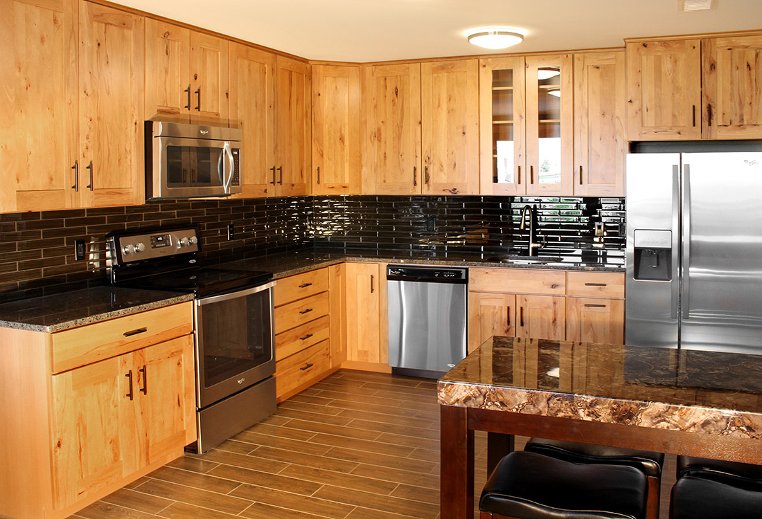 Custom Kitchen Countertops at Legacy Flats Apartments in Omaha, Nebraska
