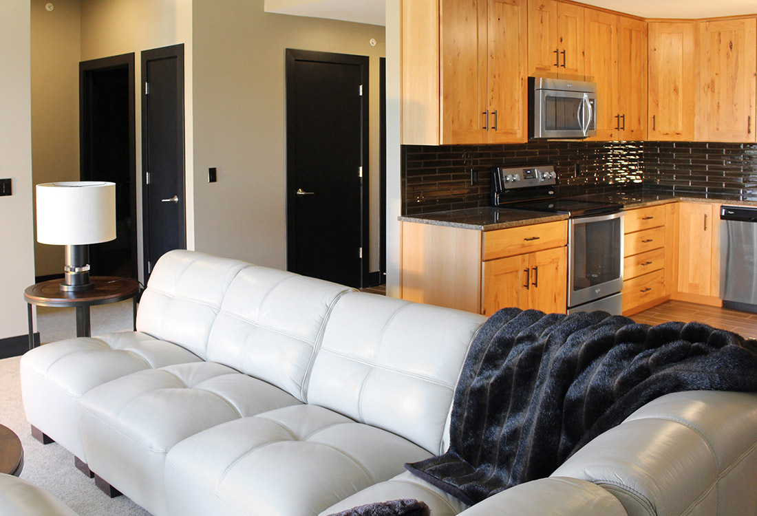 Contemporary Interiors at Legacy Flats Apartments in Omaha, Nebraska