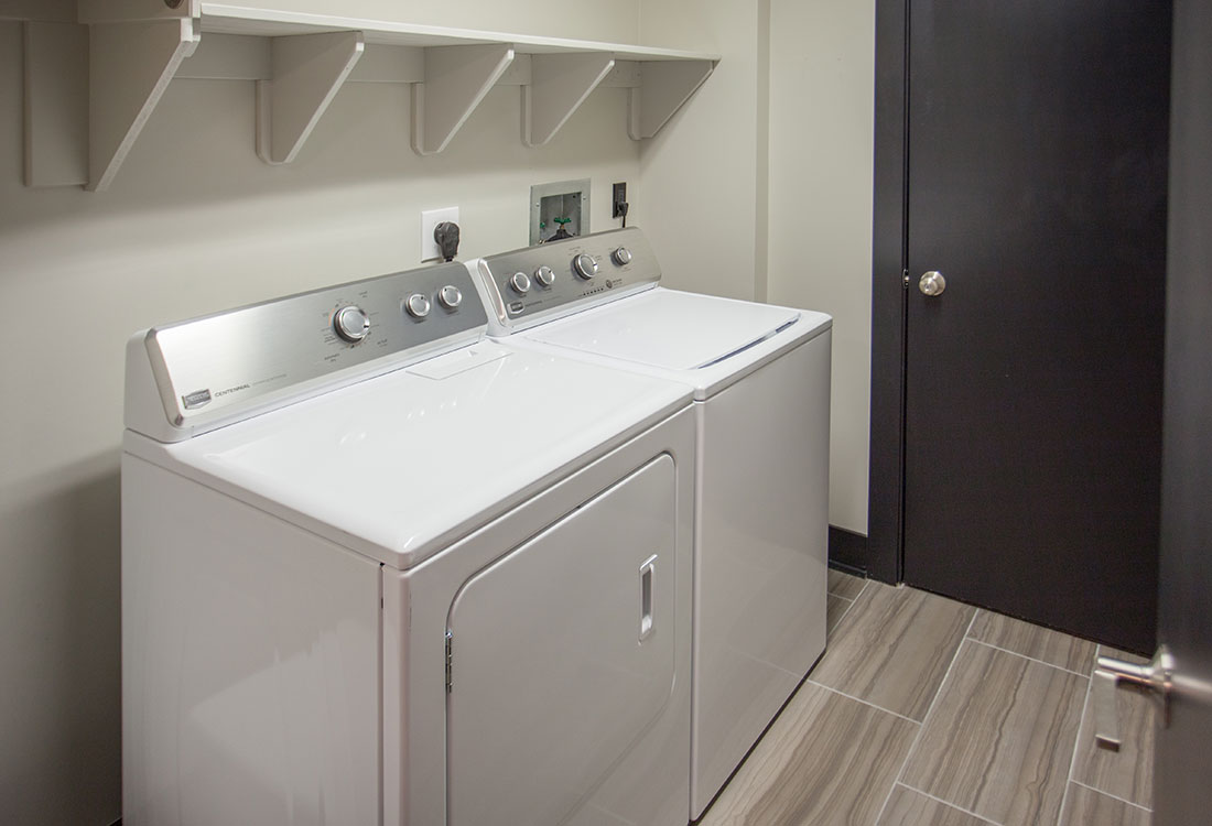 Walk-In Laundry Room at Legacy Flats Apartments in Omaha, Nebraska