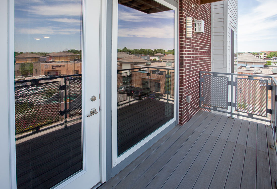 Balcony at Legacy Flats Apartments in Omaha, Nebraska
