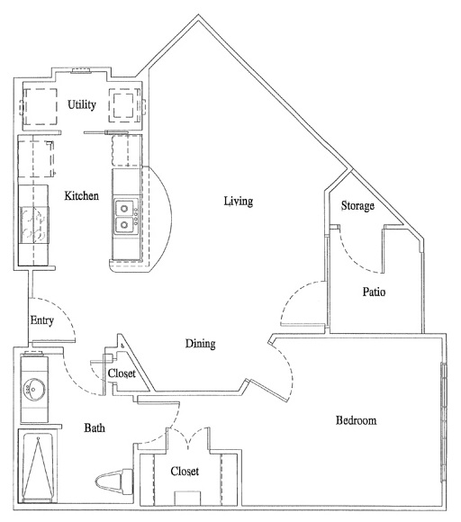 Legacy Senior Apartments - Floorplan - Unit A3