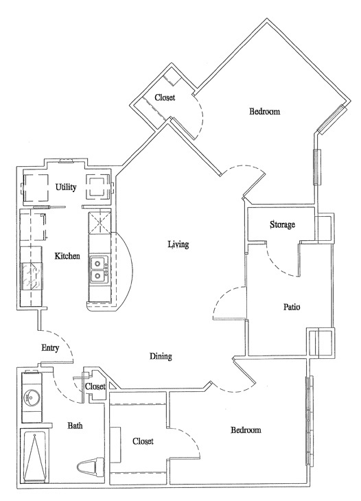 Legacy Senior Apartments - Floorplan - Unit B1