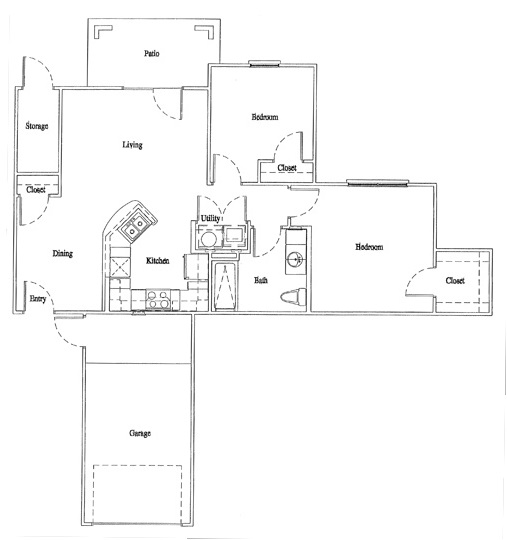 Legacy Senior Apartments - Floorplan - Unit B2