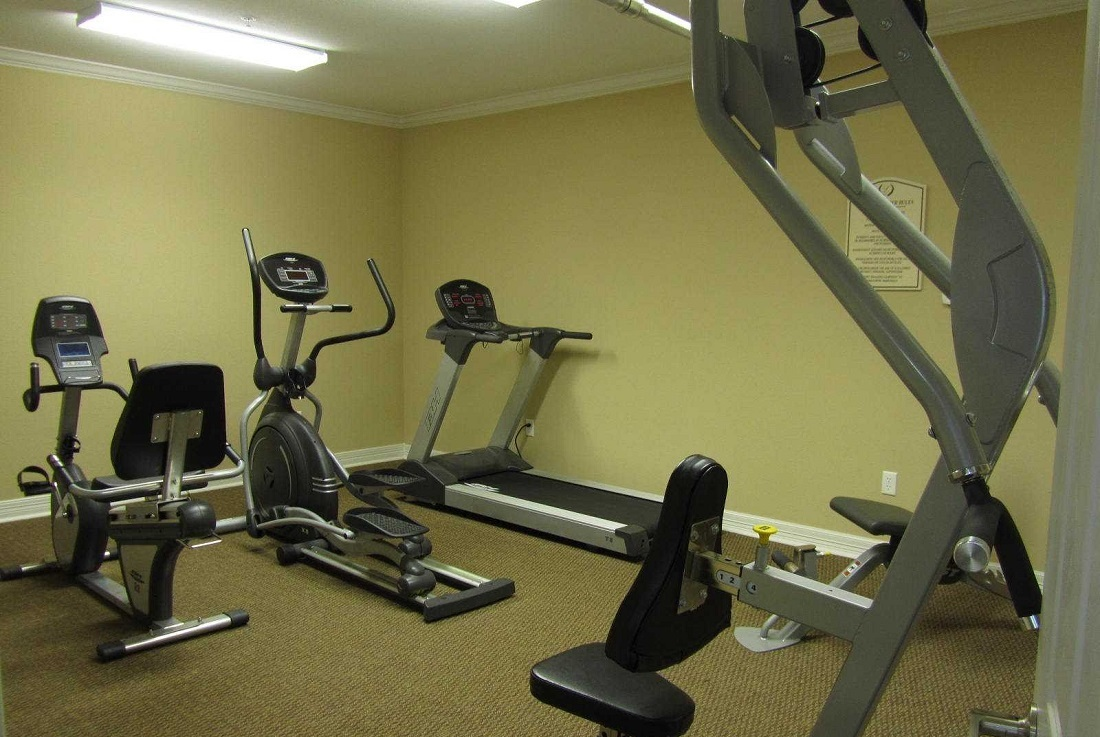 Fully Equipped Fitness Center at the Legacy Senior Apartments at Port Arthur, TX