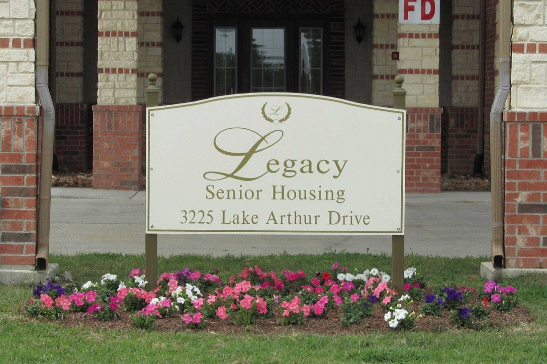 Signage at the Legacy Senior Apartments at Port Arthur, TX