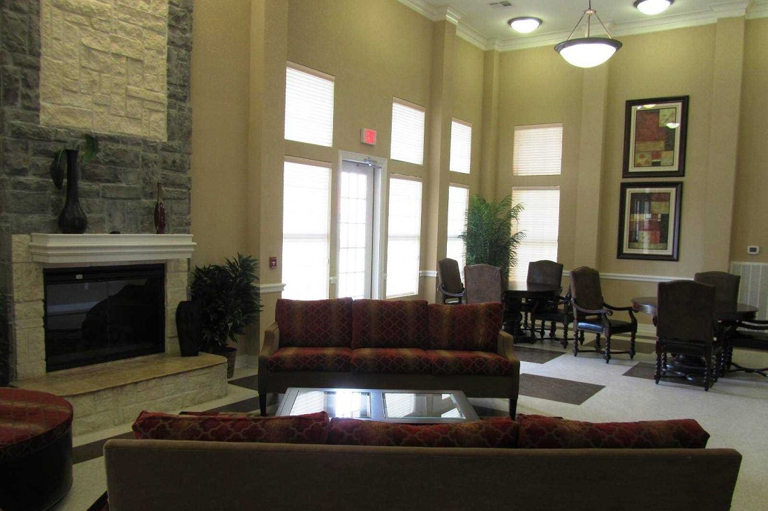 Living Room Interior at the Legacy Senior Apartments at Port Arthur, TX