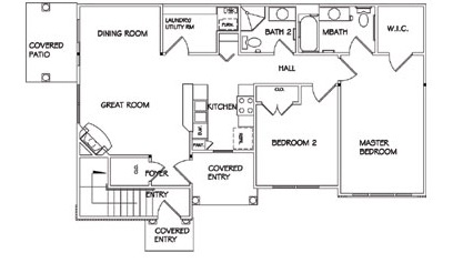 Lehigh Park Luxury Apartments - Floorplan - Two Bedroom Lower