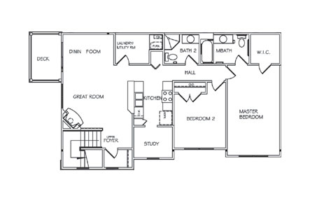 Floorplan - Two Bedroom Upper image