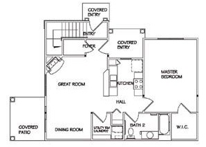 Floorplan - One Bedroom Lower image