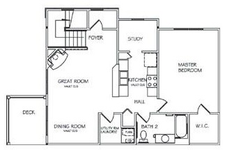Lehigh Park Luxury Apartments - Floorplan - One Bedroom Upper