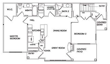 Lehigh Park Luxury Apartments - Floorplan - Two Bedroom Custom Lower