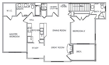 Lehigh Park - Floorplan - Two Bedroom Custom Upper