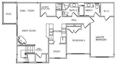 Lehigh Park Apartments - Floorplan - Two Bedroom Lower