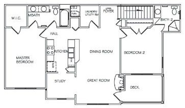 Floorplan - Two Bedroom Custom Upper  image