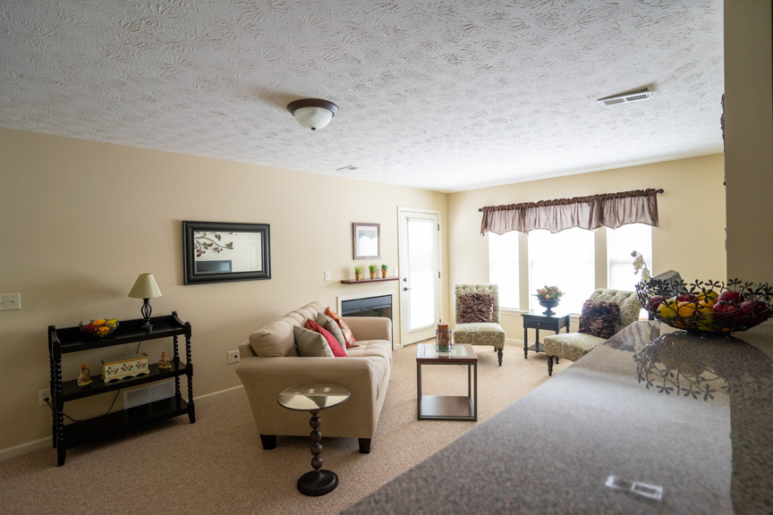 Living Room at Lehigh Park Apartments in Henrietta, NY