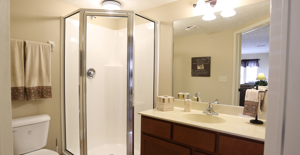 Walk-In Showers at Lehigh Park Apartments in Henrietta, NY